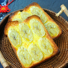 香蕉烤土司