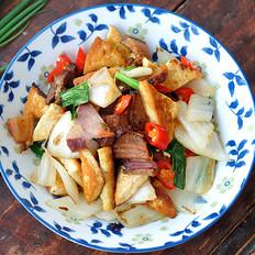 豆腐咸肉燒白菜