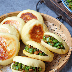 山药四季豆馅饼