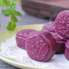 秒杀冰皮月饼的紫薯山药糯米糕