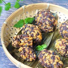 红薯紫米燕麦团