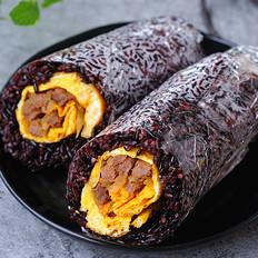 紫米粢饭团