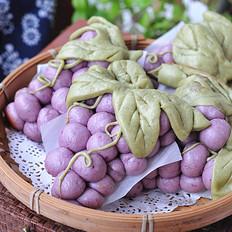 中秋玩面粉——葡萄馒头