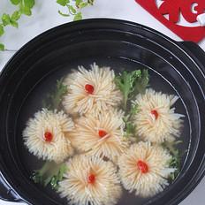 花开富贵豆腐羹