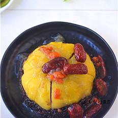 蜜汁黑米南瓜饭