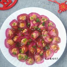 """春节必备的一道菜:""""花开富贵紫美人萝卜卷"""",寓意富贵吉祥,好彩头哦!"""