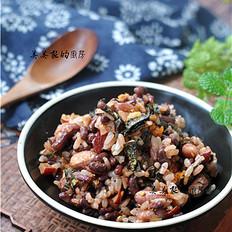 五紅肉松海苔飯的做法