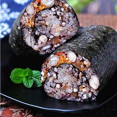 五红肉松饭团