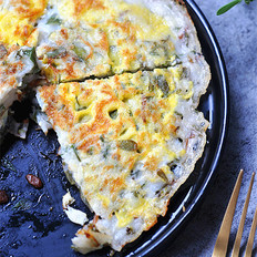 马齿苋鸡蛋饼