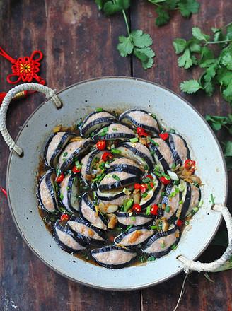 花开富贵之茄子酿肉的做法