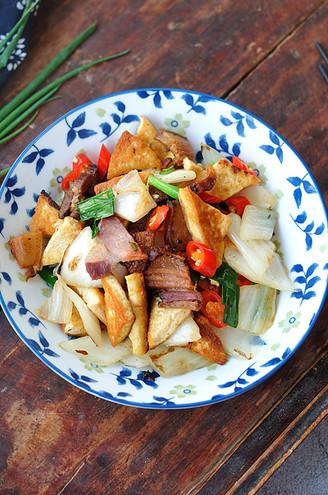 豆腐咸肉燒白菜的做法