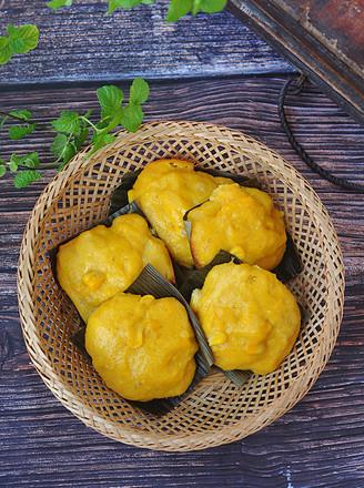 玉米南瓜蒸糕的做法