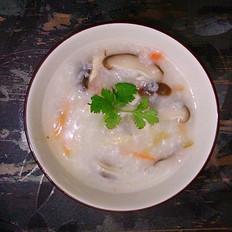 电饭锅版香菇鸡丝粥