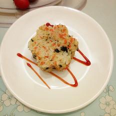 胡萝卜海苔肉松饭团