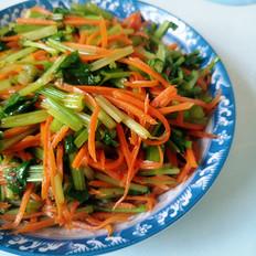 凉拌芹菜胡萝卜丝