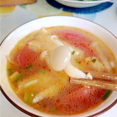 白玉菇番茄豆腐汤