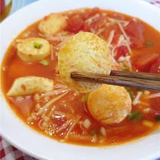 番茄金针菇烩鸡蛋豆腐