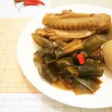 香辣卤鸭翅(海带卤蛋)