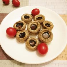 烤箱烤白蘑菇