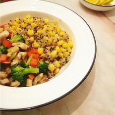 玉米藜麦鸡胸杂蔬沙拉