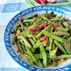 虾酱炒长豆角
