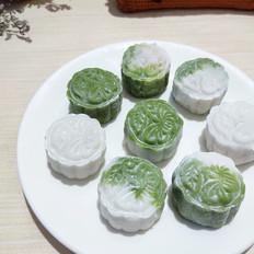 清新斑斓冰皮月饼的做法