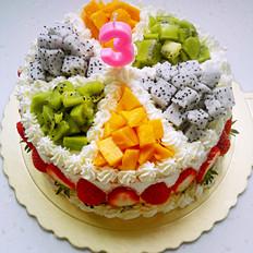 水果生日蛋糕(8寸)