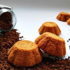 咖啡花朵小蛋糕
