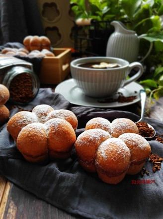 咖啡花朵小面包的做法