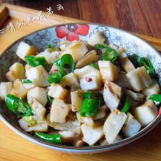 尖椒炝炒藕丁