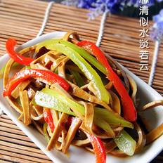 椒麻莴笋拌豆干