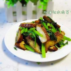 尖椒虾仁炒秋葵