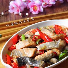 尖椒炒三文鱼