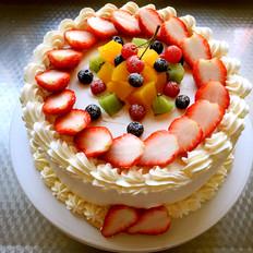 水果夹心奶油蛋糕