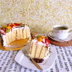 水果奶油漩涡蛋糕(木糖醇版)