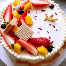 木糖醇水果奶油蛋糕(8寸)