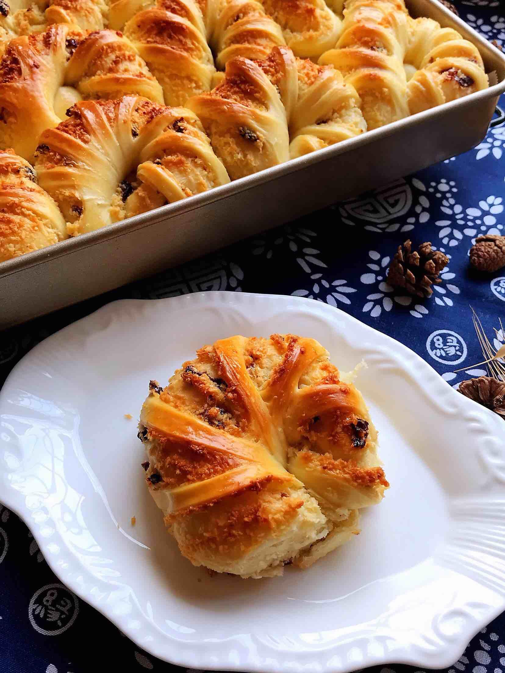 蔓越莓椰蓉面包(木糖醇版)的做法