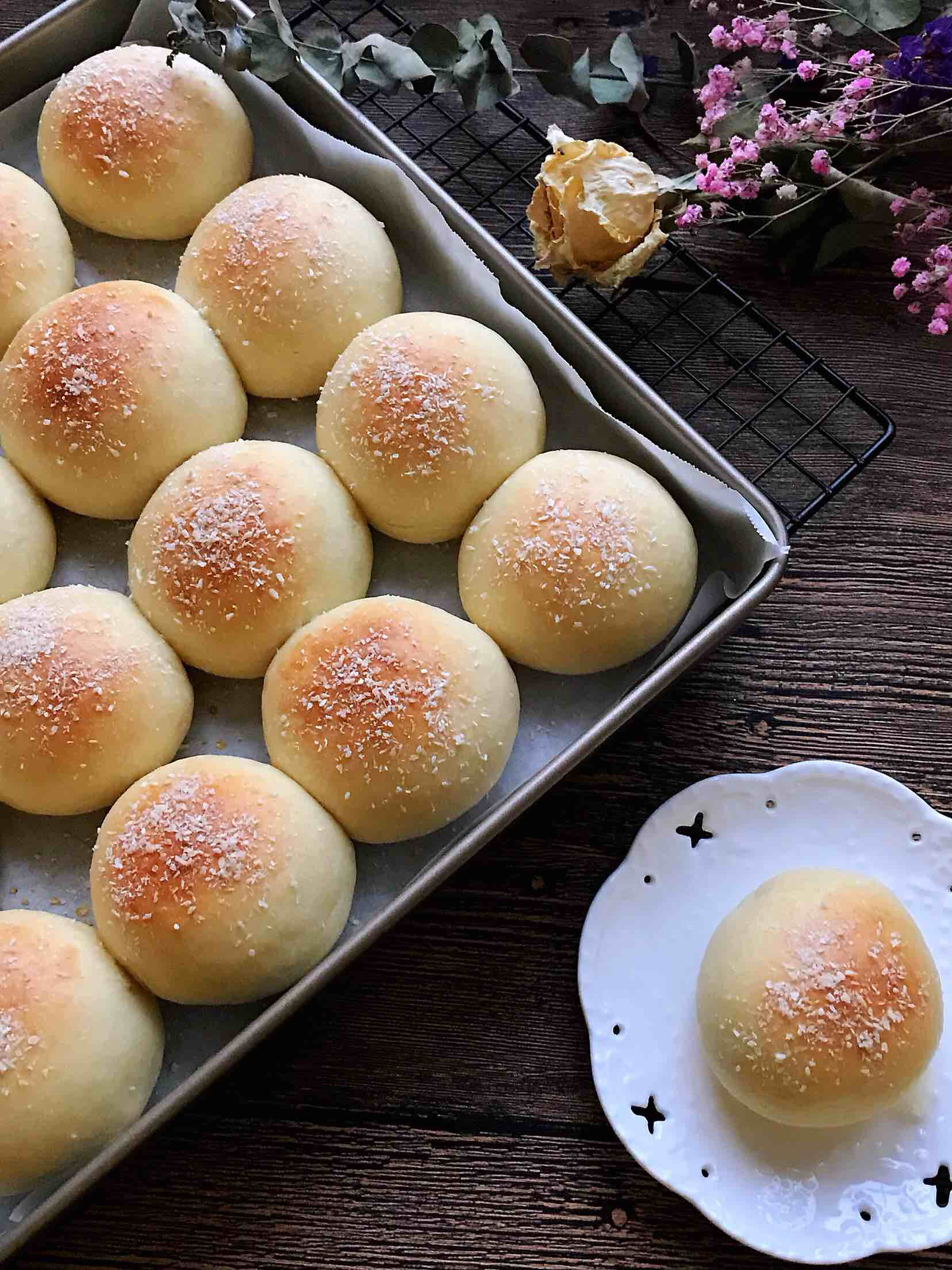 椰香奶酪豆沙包(木糖醇版)