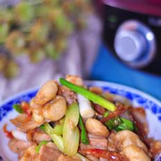 虾酱豆参炒五花