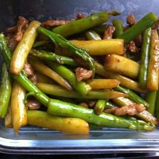 酱爆芦笋(办公族午餐系列)