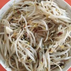 干菜炒绿豆芽