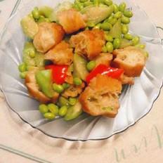 丝瓜毛豆炒油条的做法大全