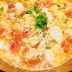 番茄豆腐蛋花汤