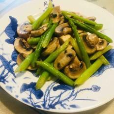 黑椒蘑菇炒芦笋