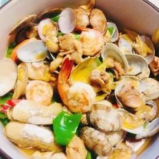 海鲜虾炒鸡