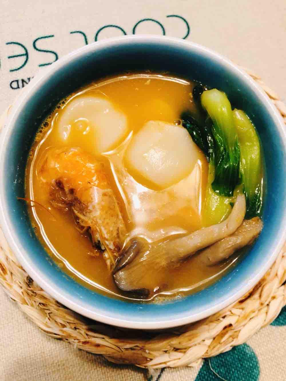 鲜虾年糕汤