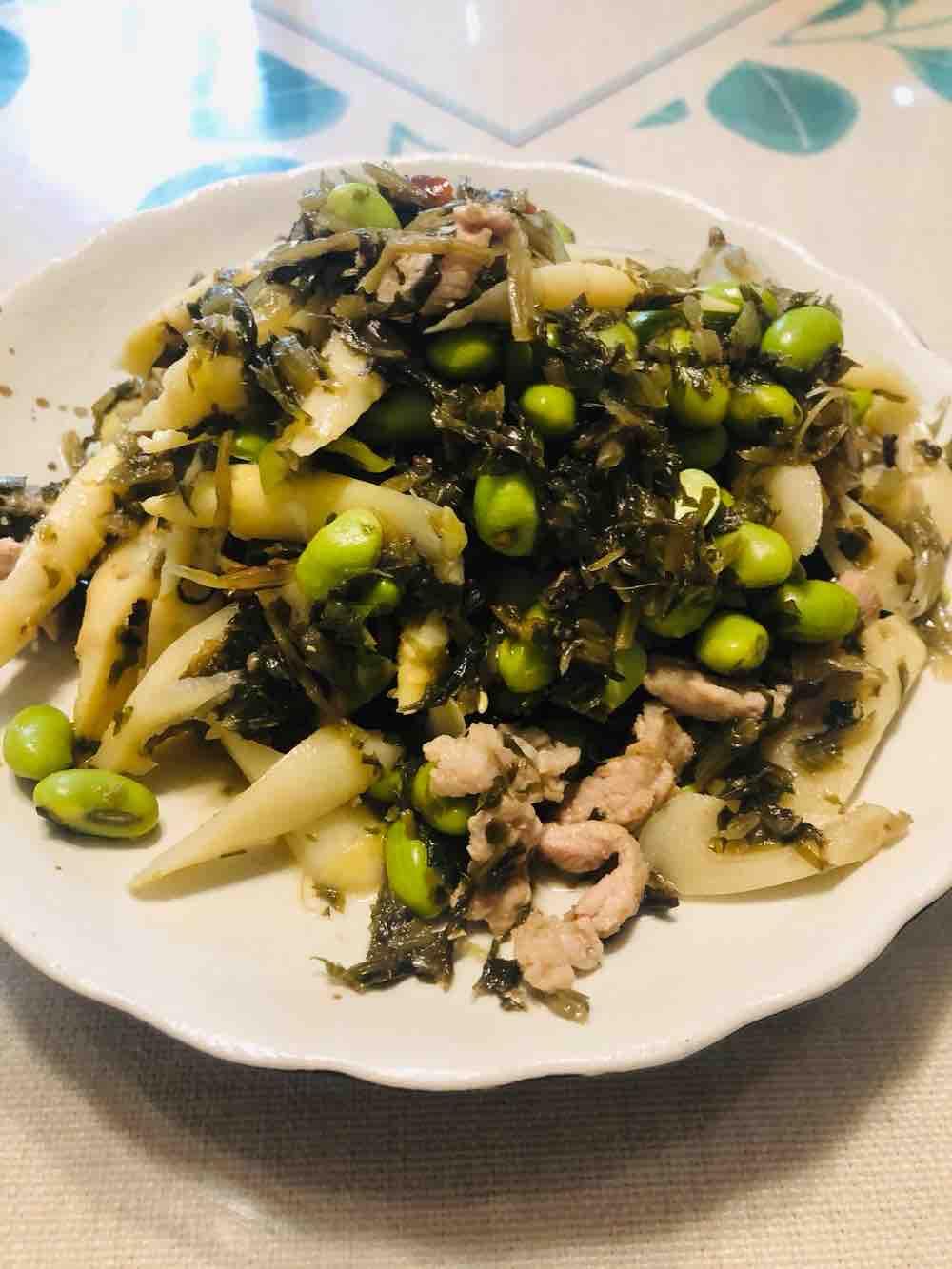 咸菜冬笋毛豆
