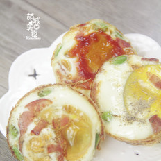 营养早餐烤鸡蛋