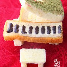 梦幻般的钢琴面包