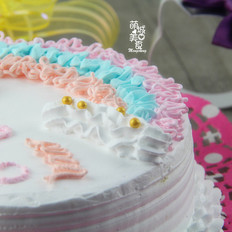 色彩斑斓 甜美的蛋糕